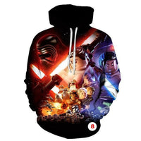Star Wars Hoodies 3D Cool Design Men Sweatshirts Casual Male Tracksuits Fashion - Tina Store