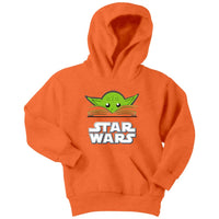 Star wars yoda chibi Youth Hoodie - Tina Store