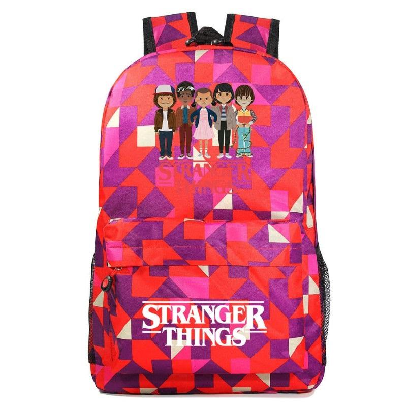 Stranger Thing Backpack Cartoon Young Student Schoolbag Casual Backpack BA7565 - Tina Store