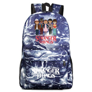 Stranger Thing Backpack Cartoon Young Student Schoolbag Casual Backpack BA7566 - Tina Store