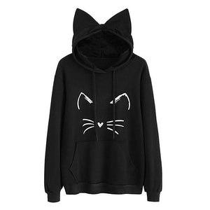 Stranger Things Hoodies Cute Cat Unisex Halloween Hoodies Pullover Oversized - Tina Store