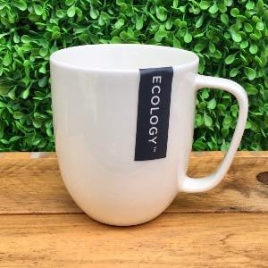 Plain White Bone China Mug - Ecology