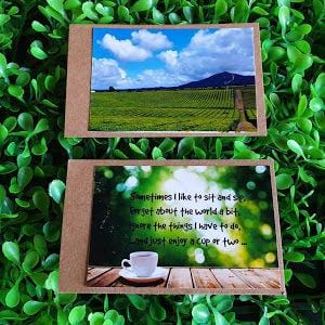Small handmade photo gift cards