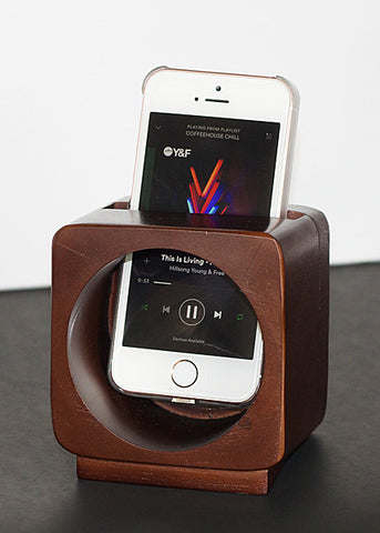 Decorative Wooden Phone Sound Amplifier & Holder