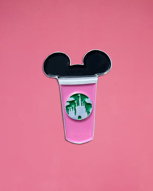 Pink Castle Cup Pin