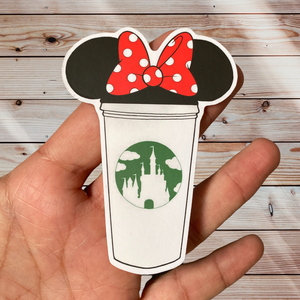 Minnie Castle Cup Sticker