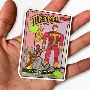 Turbo Man Sticker