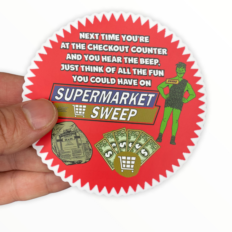 Supermarket Sweep Sticker