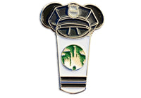 Police Castle Cup Pin ( Thin Blue Line )
