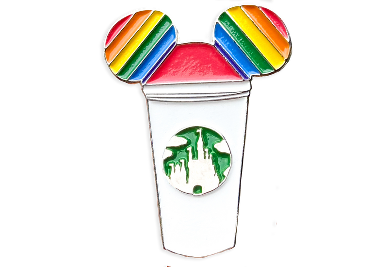 Pride Mickey Castle Coffee Cup Pin