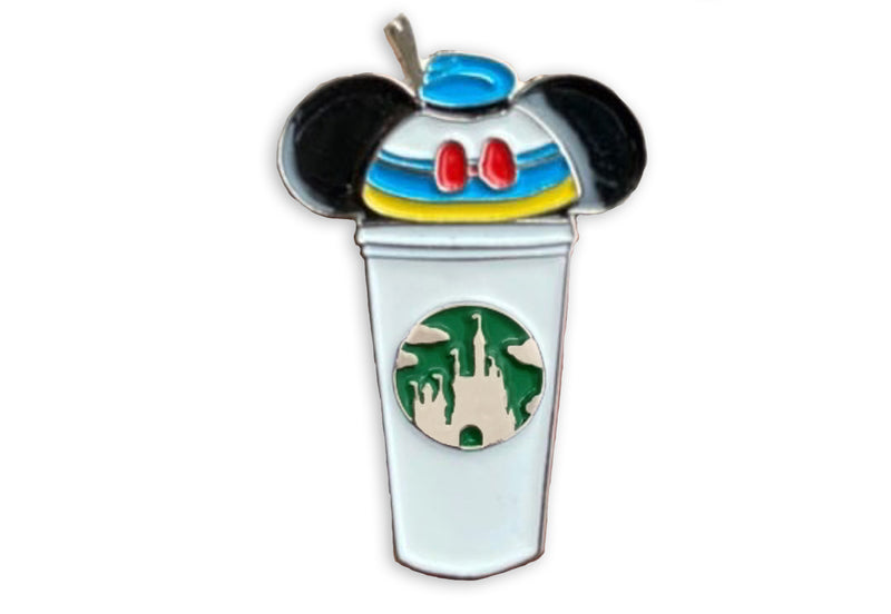 Donald Duck Castle Coffee Cup Pin