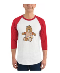 Teddy Bear Toy 3/4 Sleeve Shirt