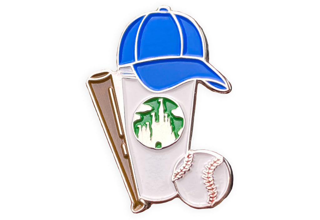 Baseball Castle Cup Pin