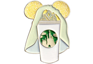 Bride and Groom Castle Cup Pins