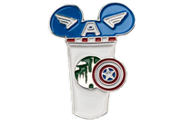 Captain America Castle Cup Pin