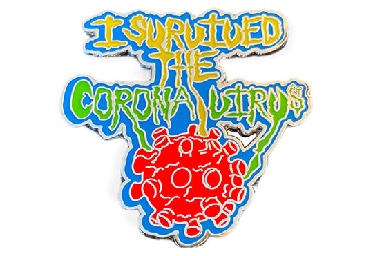 I Survived the Corona Virus Pin