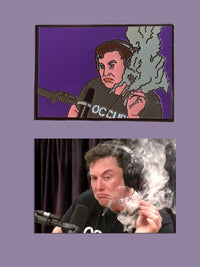 Lifted Musk Meme Pin