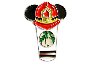 Firefighter Castle Cup Pin ( Thin Red Line )