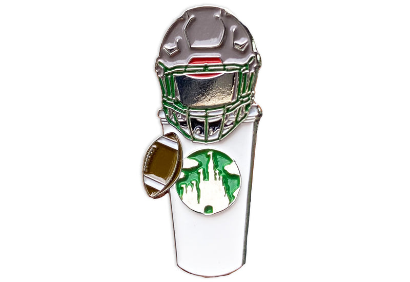 Football Castle Cup Pin
