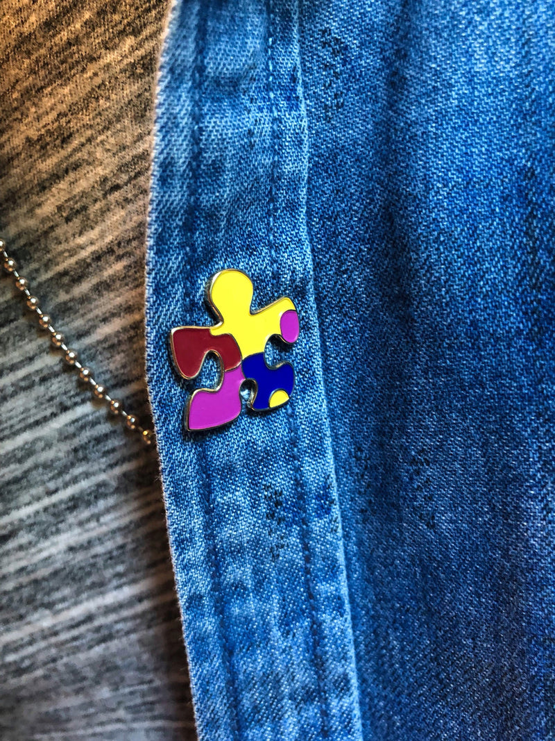 The Grace Foundation Autism Awareness Puzzle Piece Pin