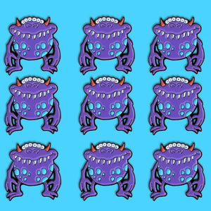 Purple Monster Enamel Pin, Halloween pins, monster pins, scary pins, spookly pins, monster movies, holiday pins
