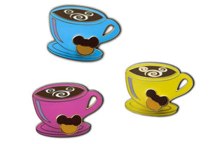 Mickey Swirl Coffee Cup Pin