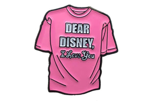 Dear Disney Tiny Tee Pin (Pink)