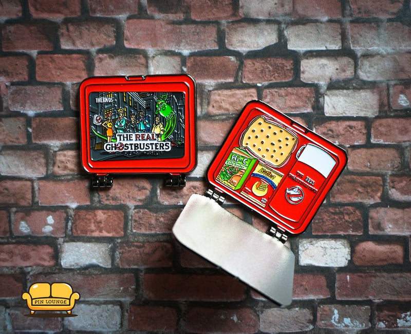 PREORDER Ships Oct 15th  ! The Real Ghostbusters Lunchbox (2 Pins in 1), Ghostbusters ,Slimer, Lunchbox pin