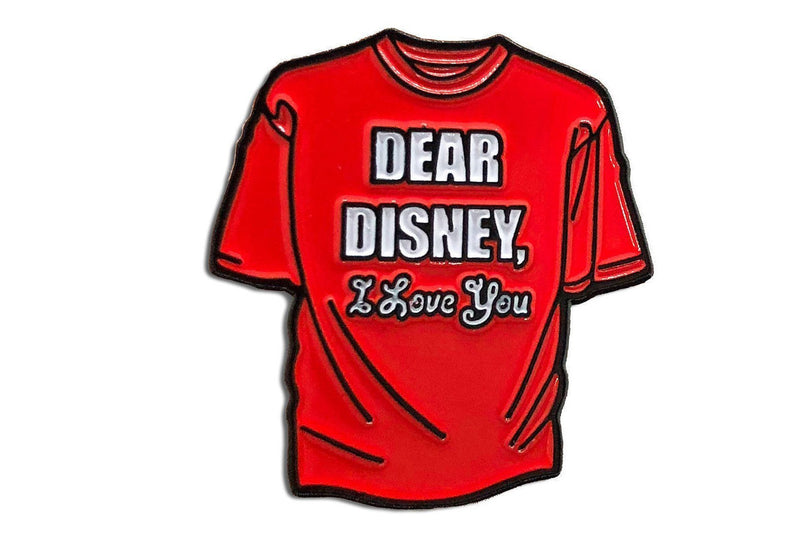 Dear Disney Tiny Tee Pin (Red)