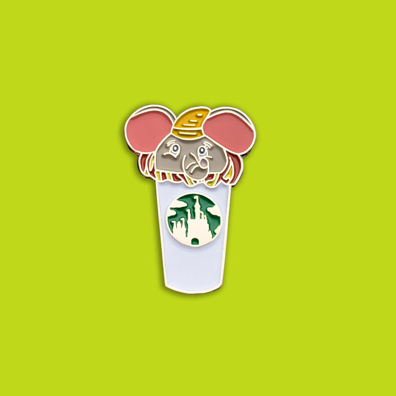 Dumbo Castle Coffee Cup Pin | Dumbo Pins | Elephant Pins | Dumbo Movie