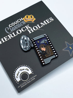 Sherlock Holmes Enamel Pin | Detective pins | sherlock pin | couch classics pin | Private eye | Movie Pins