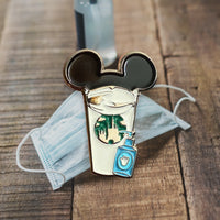 Social Distance Castle Coffee Cup Pin | Mask pin | PPE pin | Hand sanitizer pin | enamel pins |