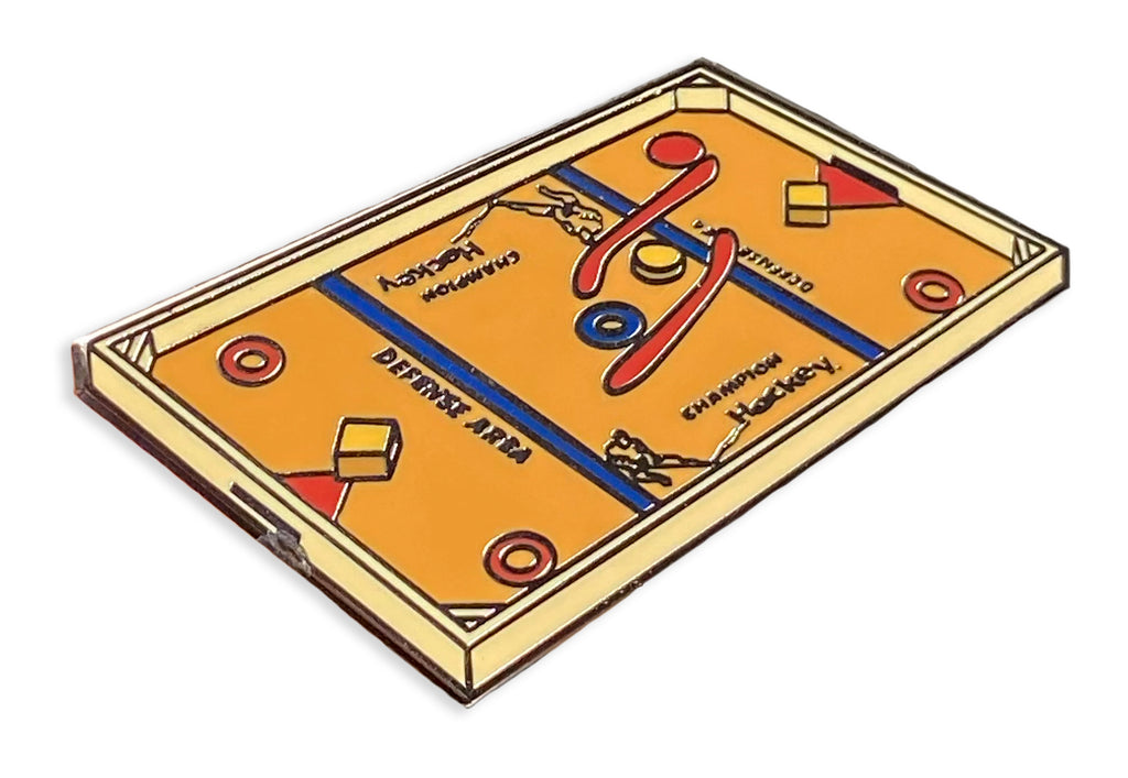 Wooden Hockey Game Pin