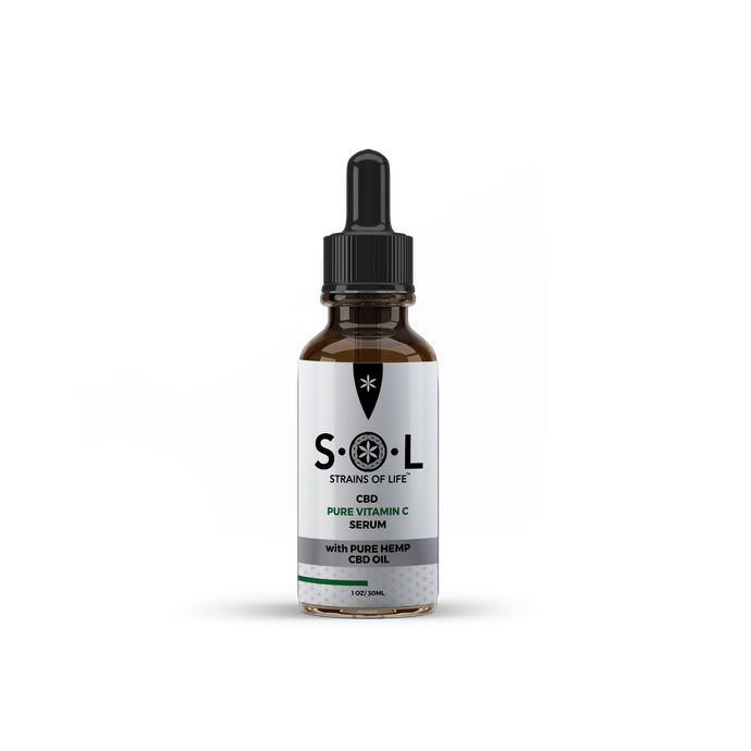 S•O•L CBD PURE VITAMIN C FACIAL SERUM