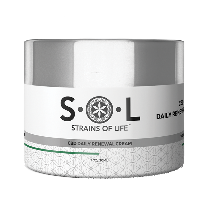 Daily Renew CBD Cream from SOL CBD.  cbd daily cream.
