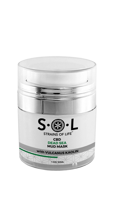 CBD Dead Sea Mud Mask from SOL CBD for sale. buy pure hemp CBD dead sea mud mask online USA.