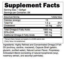 Omega 1000® | High Concentrate Fish OIl| 1,000mg Omega-3 Per Softgel