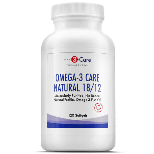 3Care Natural Profile Omega-3 Fish Oil TG Triglyceride Form EPA and DHA Health Nutritional Supplement EFA
