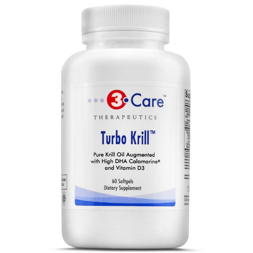 3Care Turbo Krill enhanced with Calamarine for 2,100mg of Omega-3 Highest Krill Omega-3 Supplement with Vitamin D 1000 Iu's Amazon Best Seller