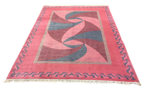 Tibetan Pink Hand-Knotted Rug