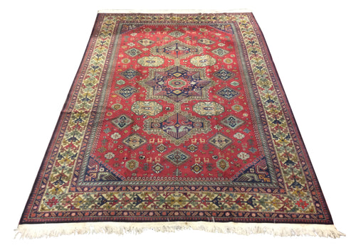 Afghan Tribal Red Hand-Knotted Rug - Rug Tycoon