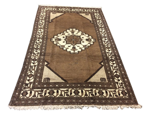 Afghan Tribal Brown Hand-Knotted Rug - Rug Tycoon