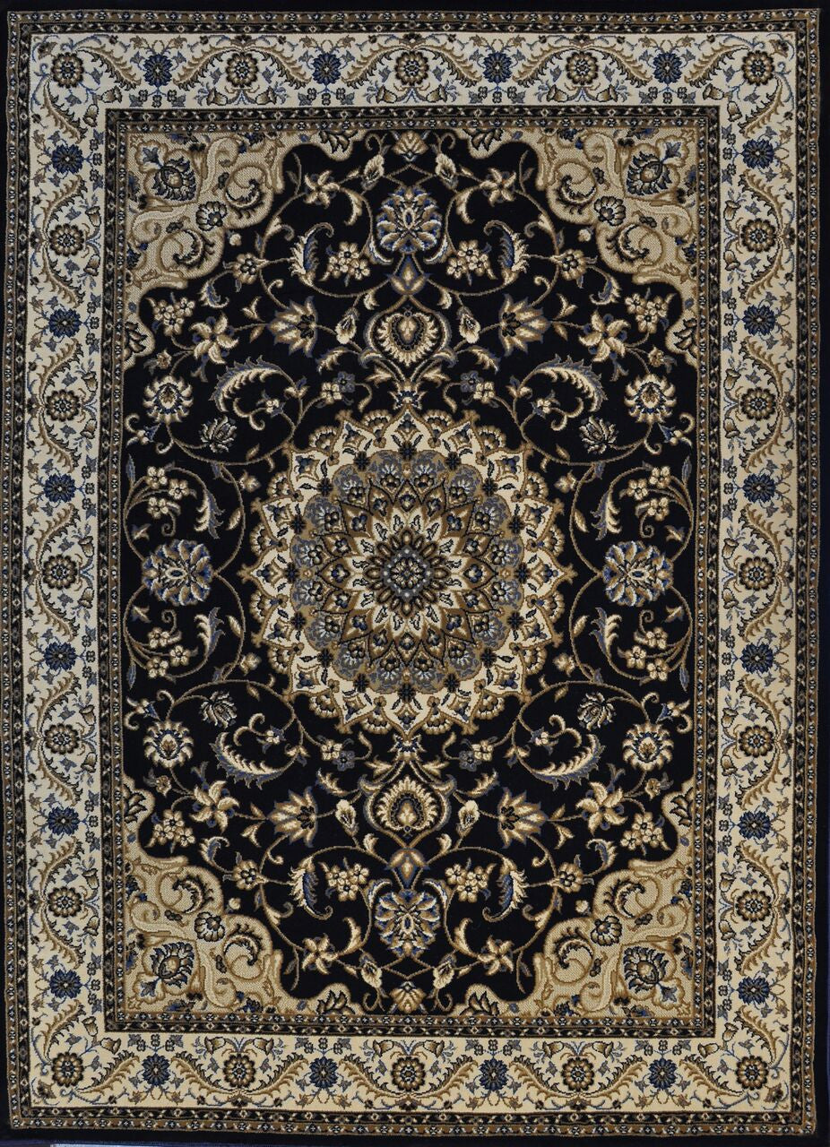 A802 Dark Blue Area Rug - Rug Tycoon