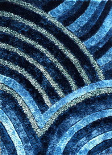Shelie Wave Blue Area Rug