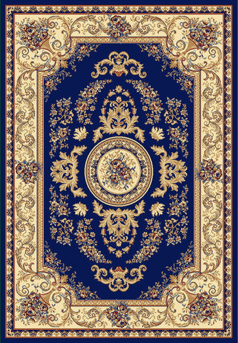 A804 Dark Blue Area Rug - Rug Tycoon