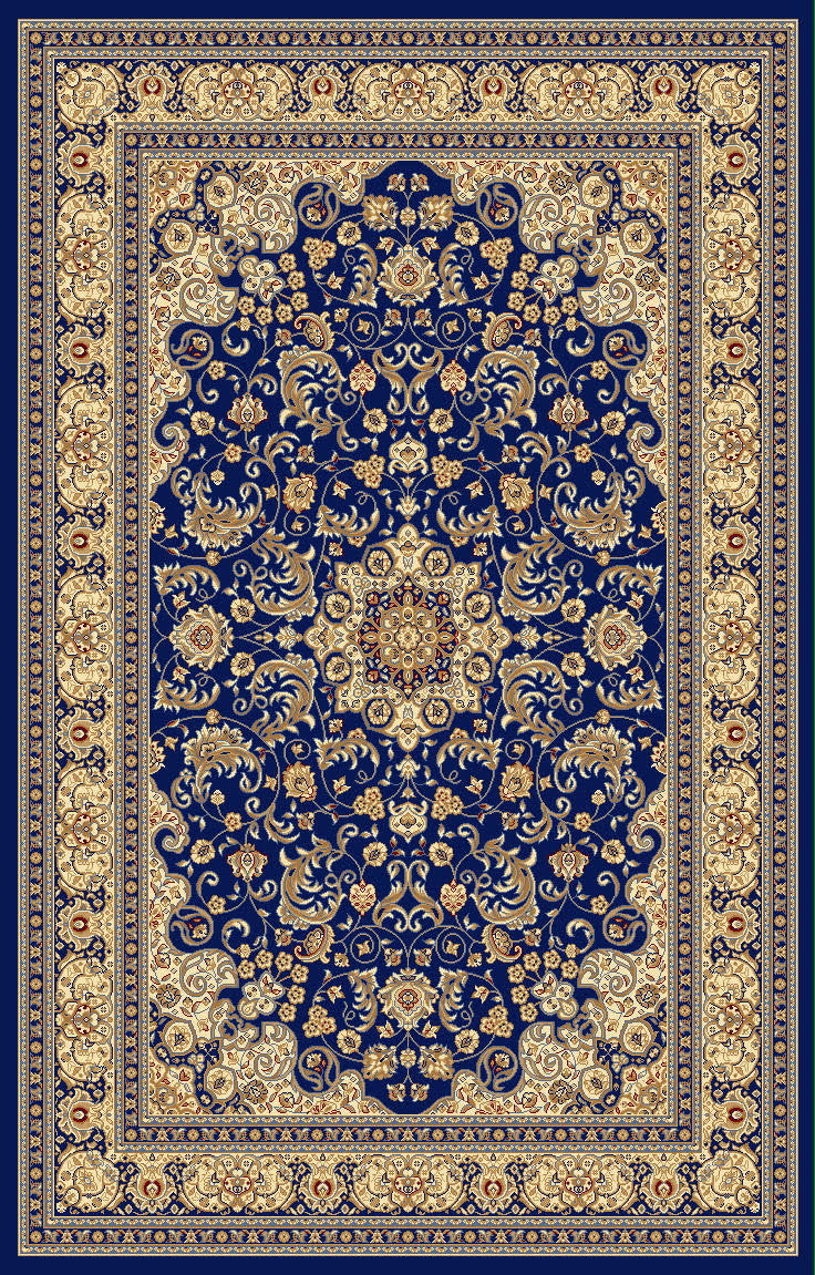 A805 Dark Blue Area Rug - Rug Tycoon