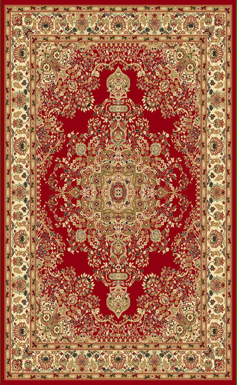 A807 Red Area Rug - Rug Tycoon