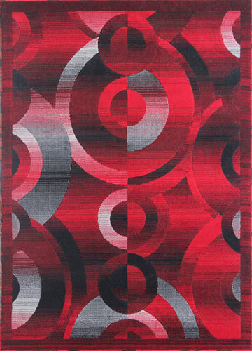Black/Red/Grey Area Rug - Rug Tycoon
