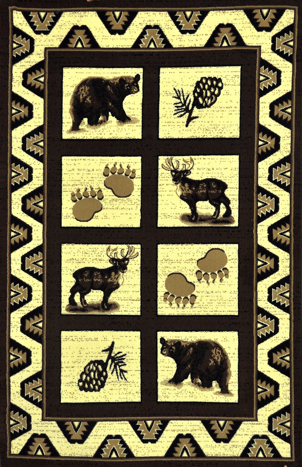 Blue River Brown Area Rug - Rug Tycoon