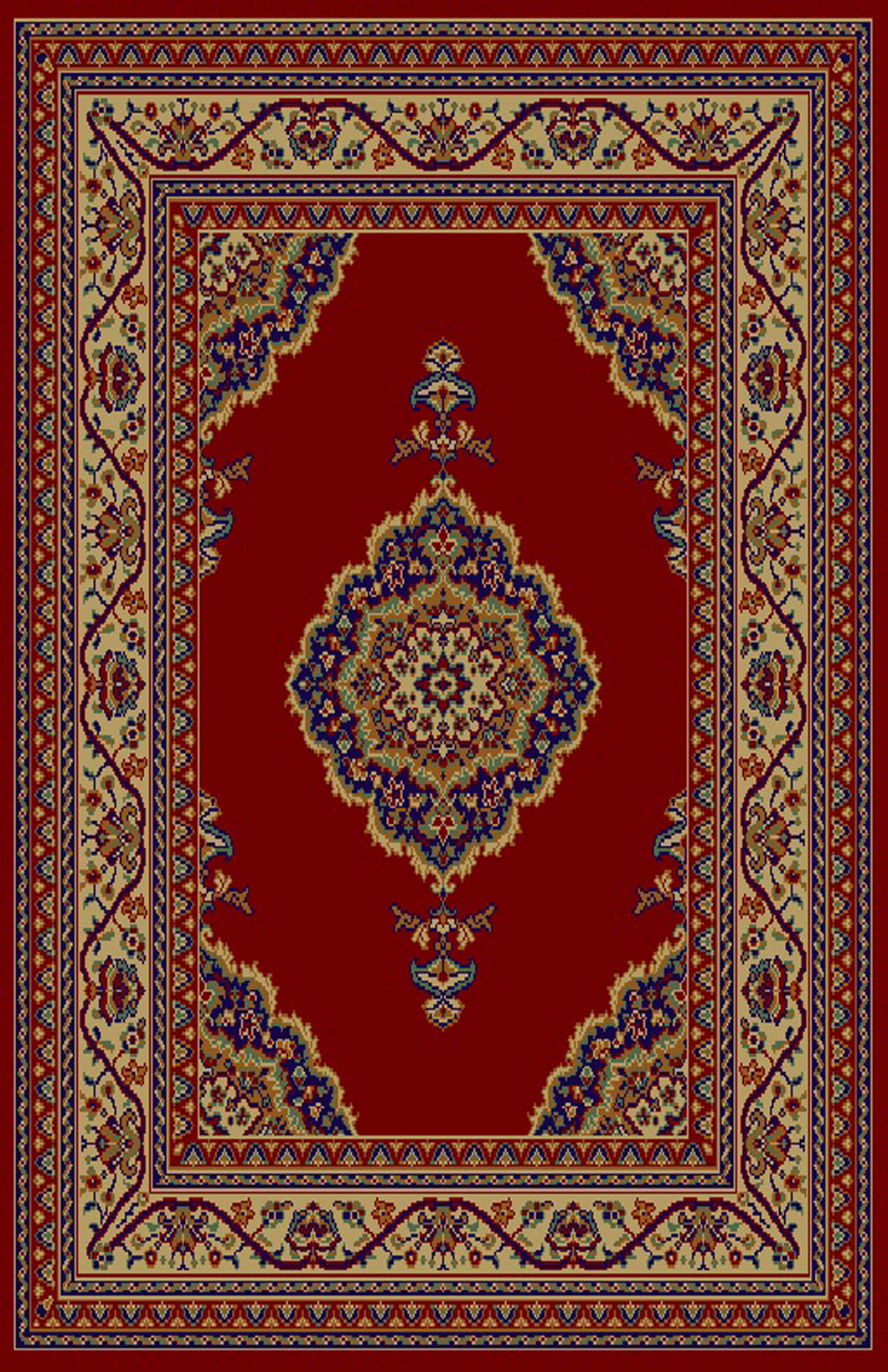 Cheri Red/Brown Area Rug